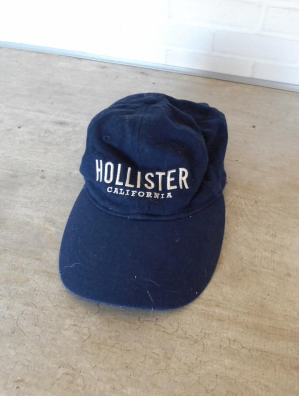 Hollister czapka z daszkiem granatowa bejsbolówka logo