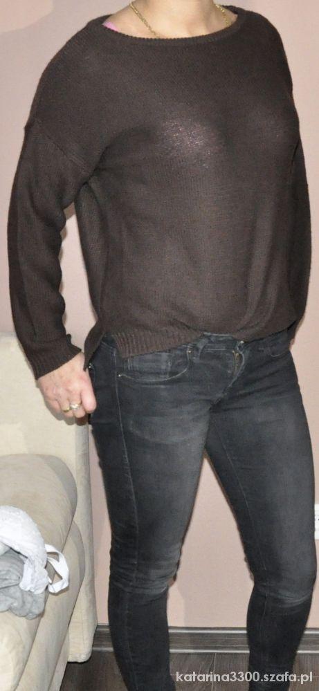 Brązowy sweter ZARA