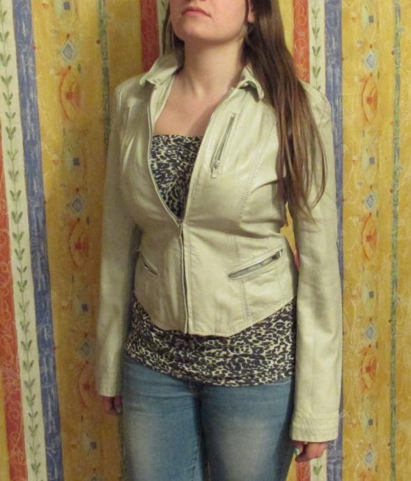 Cudna beżowa nude kurtka marki Amisu