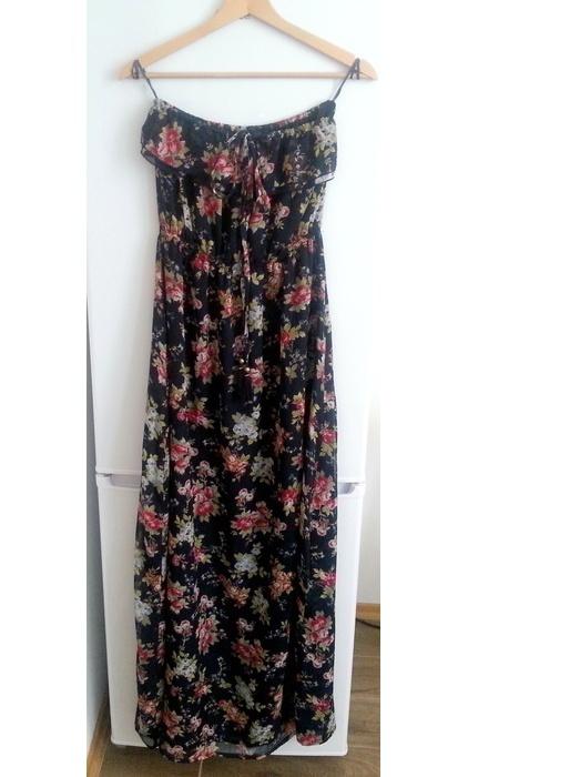 Sukienka w kwiaty maxi długa...
