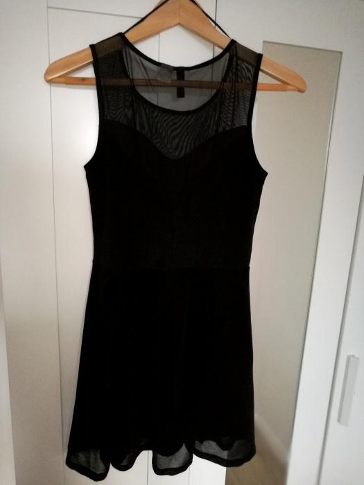 Krótka czarna sukienka H&M S
