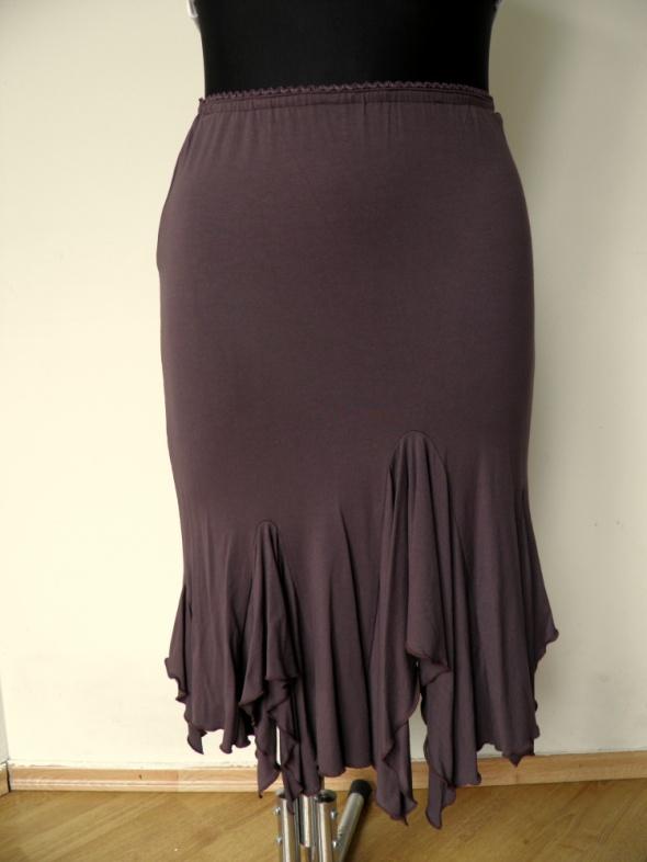 Spódnice Kakaowa brązowa spódnica syrenka rybka