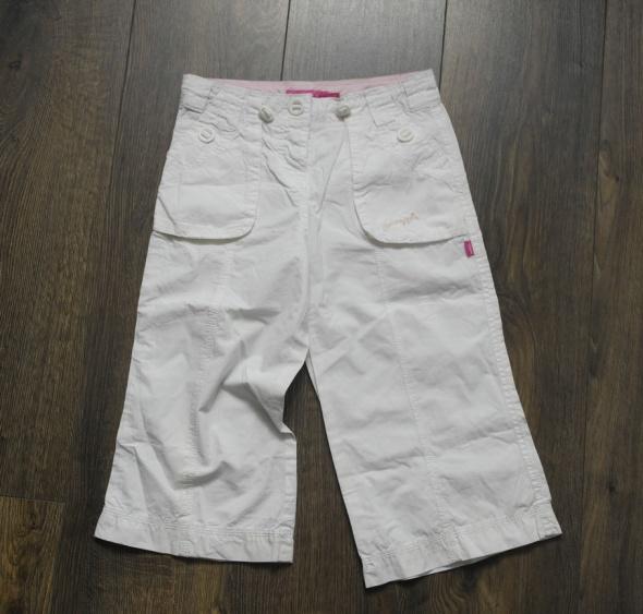 Białe letnie spodnie NOWE 140