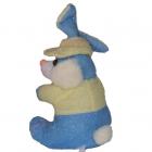 Maskotka niebieski zając z serduszkiem
