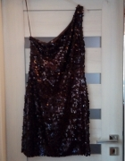 Wyprzedaż piekna cekinowa sukienka mini MANGO 36...