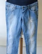 Spodnie Mama Licious W29 L34 M 38 Przetarcia Jeans...