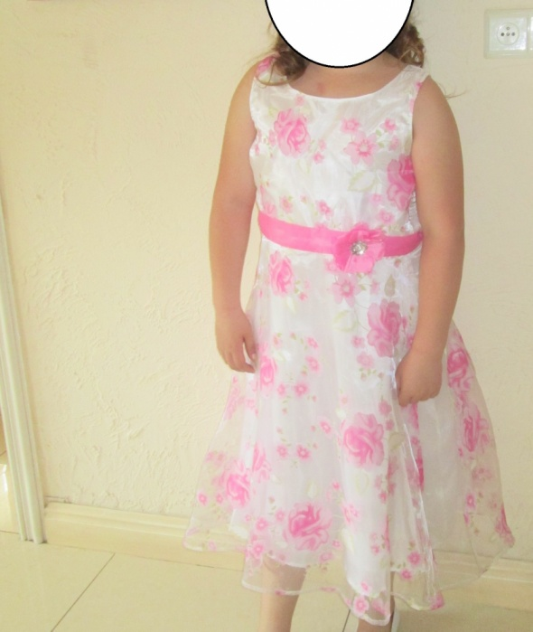 Sukienka komunia wesele powiewna 11 12 lat