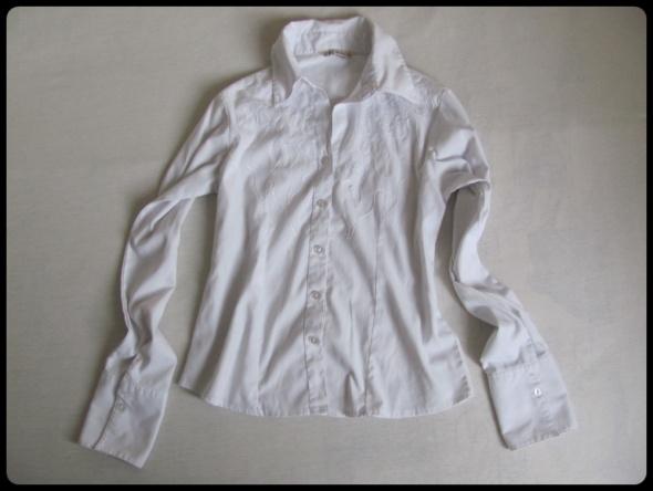 Biała koszula z kołnierzykiem rozmiar 36 S