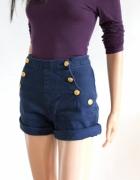 Granatowe jeansowe krótkie spodenki r S...