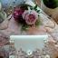Nowa torebka listonoszka na łańcuszku zdobiona kwiatuszkami i frędzlem