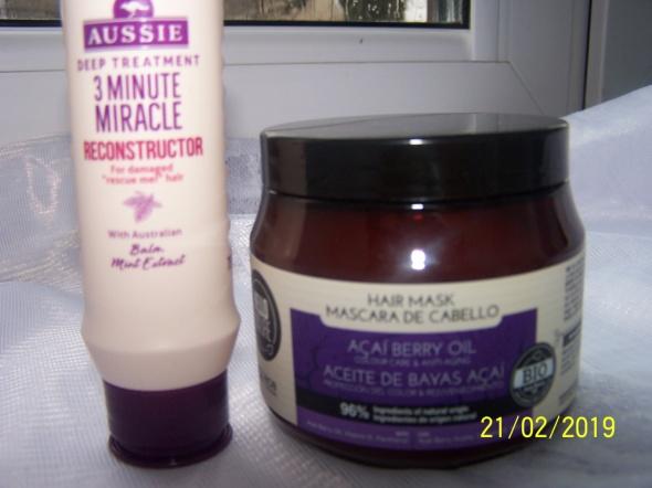 Maska do włosów olejek z jagód acai I odżywka Aussie