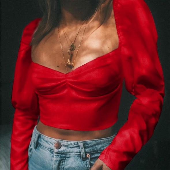 czerwony top