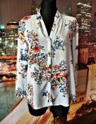 esprit koszula modny wzór paski kwiaty floral hit 40 L...