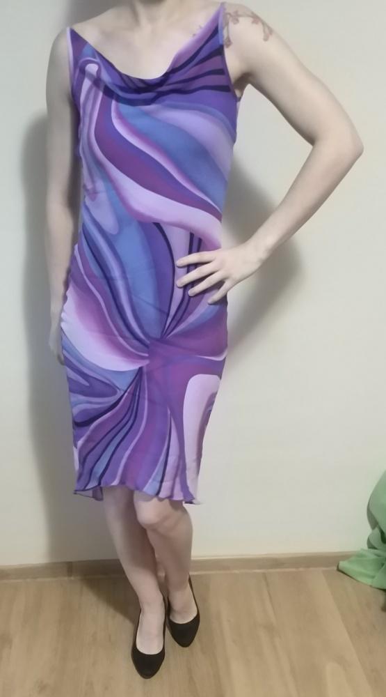 3aea339724 Fioletowa zwiewna sukienka w Suknie i sukienki - Szafa.pl