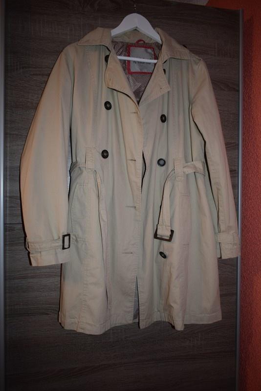 płaszcz trencz beżowy jasny 42 XL...