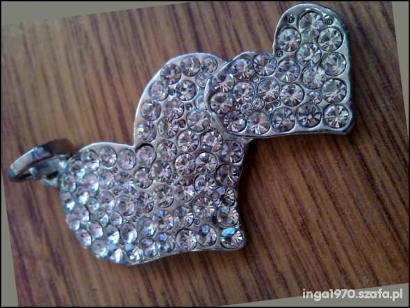 Dwa perfekcyjne diamentowe serca NOWE