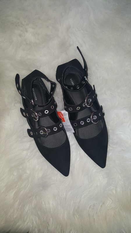 Reserved nowe czarne baleriny 40 41...