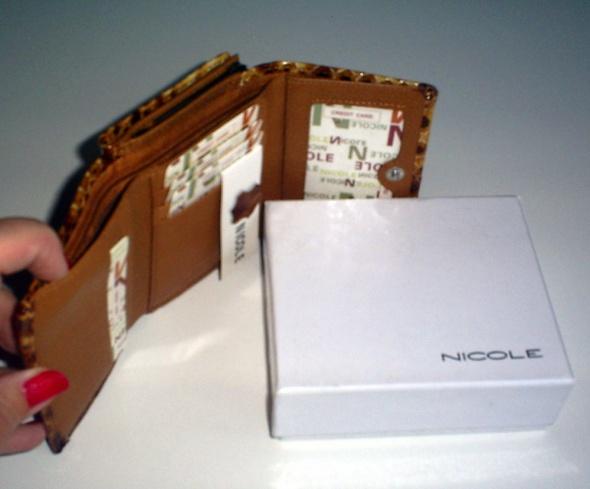 Nowy cieniowany skórzany portfel