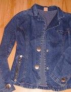 Jeansowa kurteczka jak żakiet...