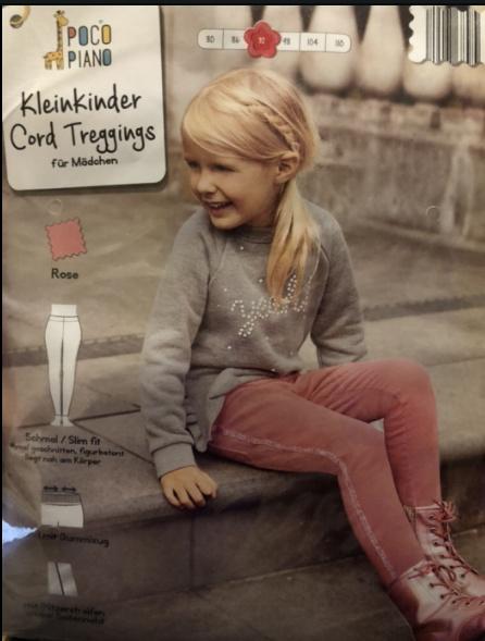 Spodnie sztruksy dziewczęce różowe NOWE 92...