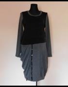Nexx sukienka szara czarna midi 44...