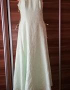 Suknia sukienka 42 sznurowana wesele bal haft kwiaty...