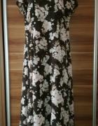 Suknia sukienka 44 kwiaty zwiewna powiewna lekka...
