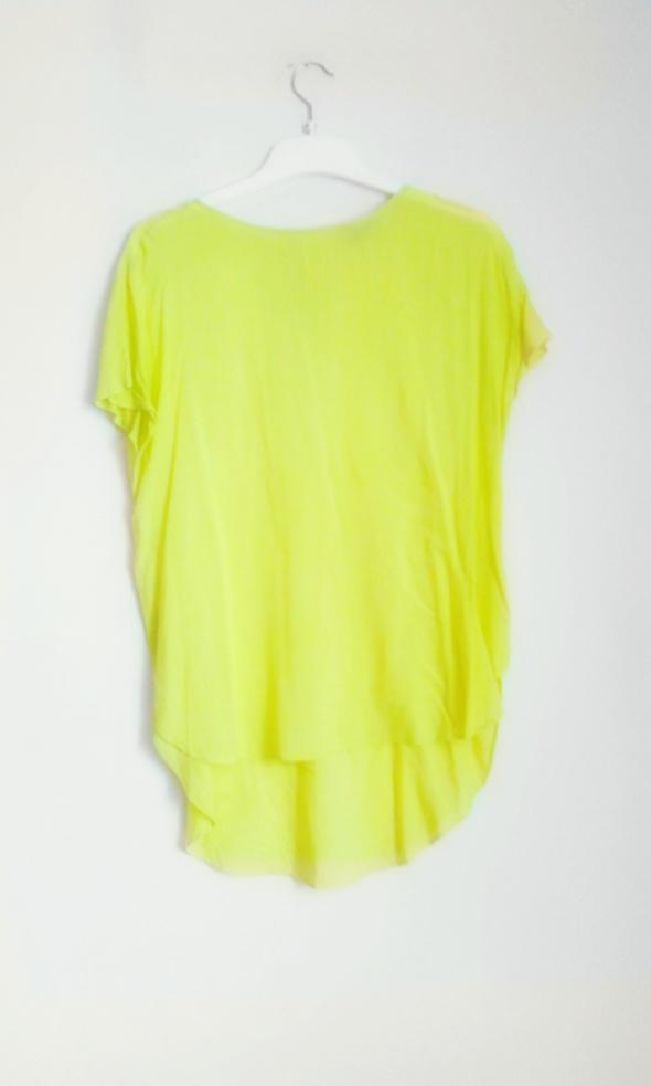 asymetryczna bluzka limonka