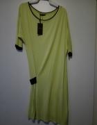 Sukienka Limonkowa 34