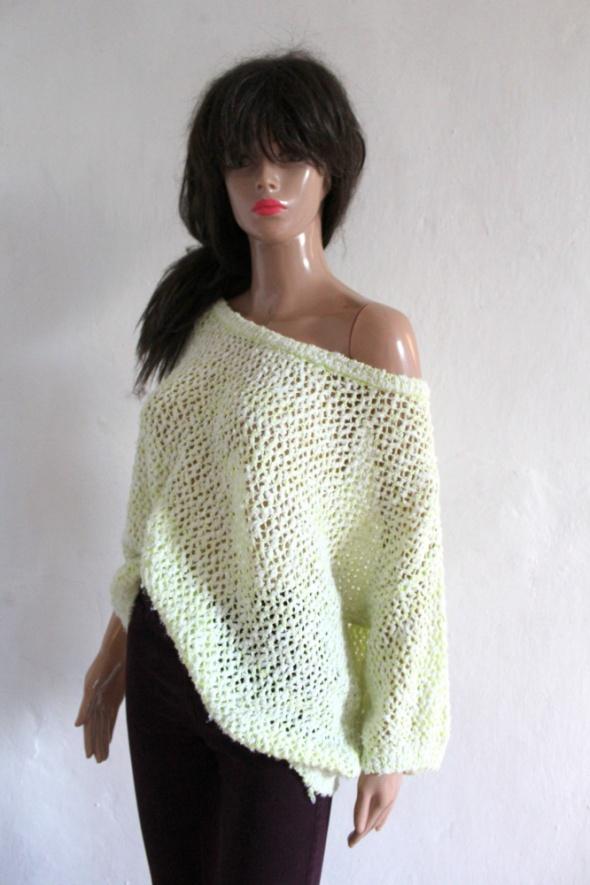 Żółty neonowy sweterek r 44...