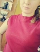 Bawełniana bluzeczka bez rękawów półgolf...