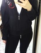 Nowa czarna bluza cyrkonie zipy kangurka...