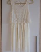 kremowa sukienka Only S...