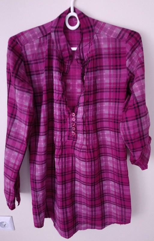 Koszula w kratę koszula w kratkę tunika...