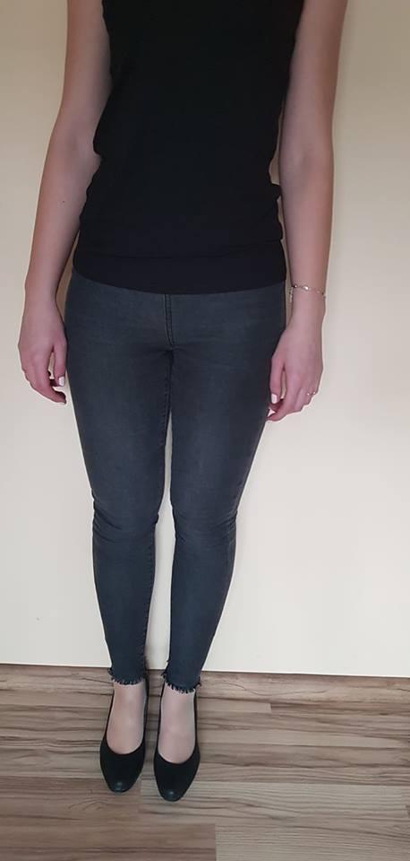 szare spodnie M