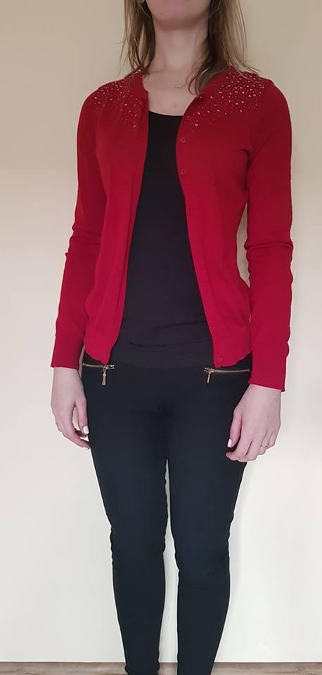 sweterek czerwony S