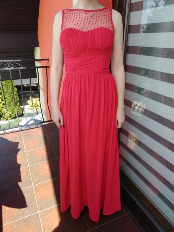 Sukienka maxi czerwona S