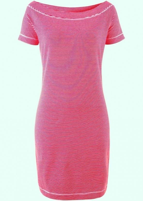 Bawełniana sukienka w czerwone paseczki...