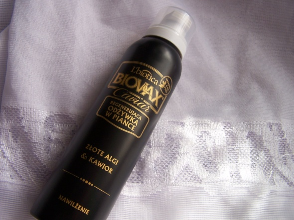 Odżywka do włosów w piance Biovax Caviar Złote algi i kawior