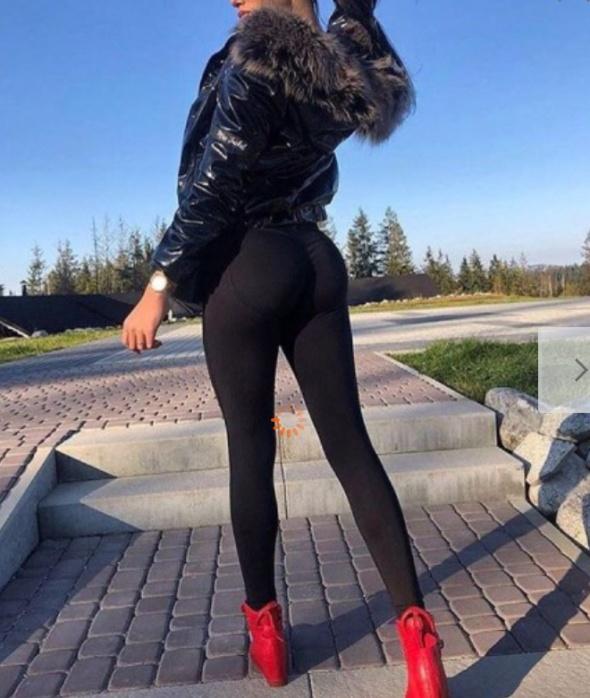Spodnie Push up serca rurki czarne
