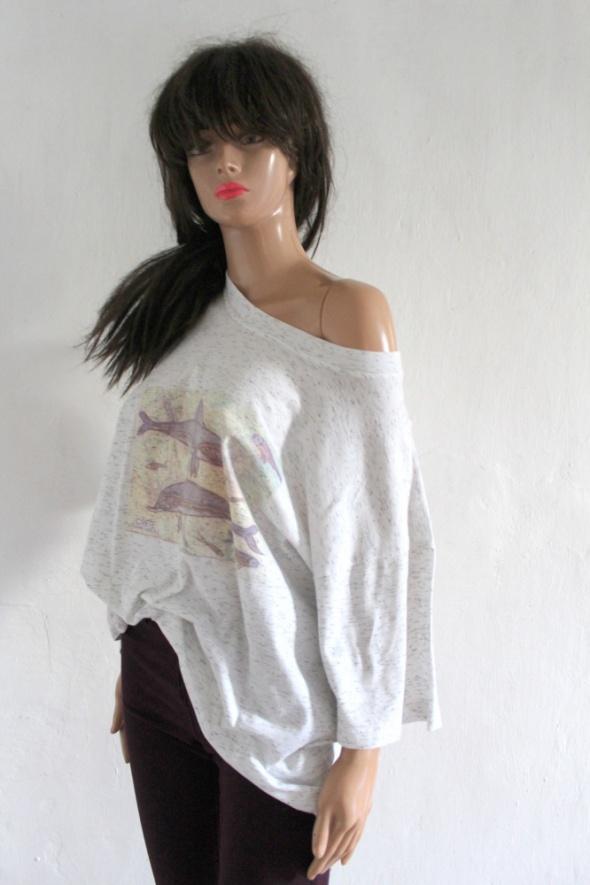 T-shirt Szary tshirt koszula melanż r XL