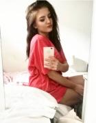 Luźny czerwony Tshirt