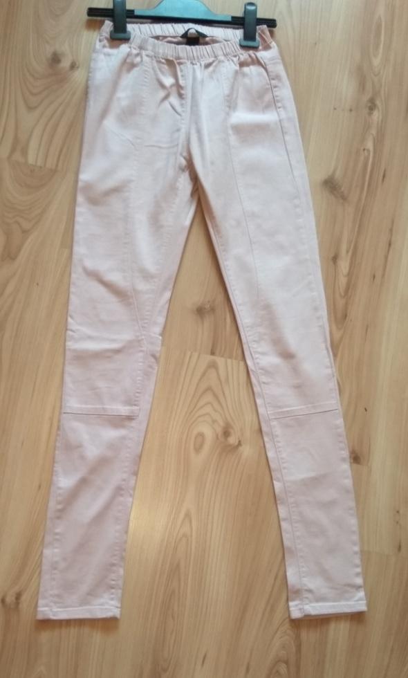 Treginsy spodnie pudrowy róż jasne H&M xs 34