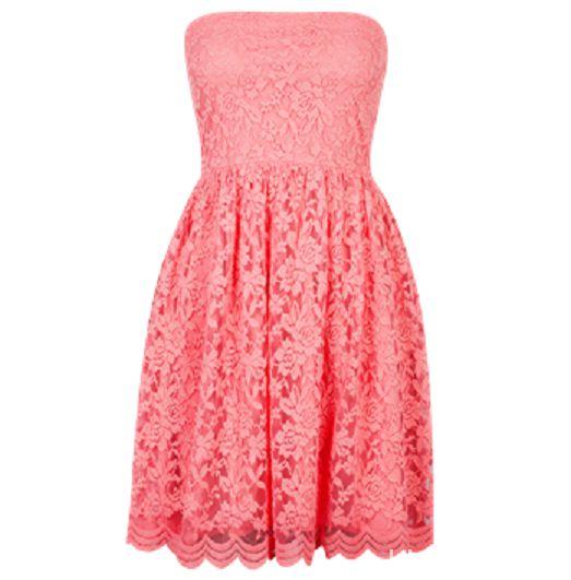 koronkowa sukienka Cubus koral nenon