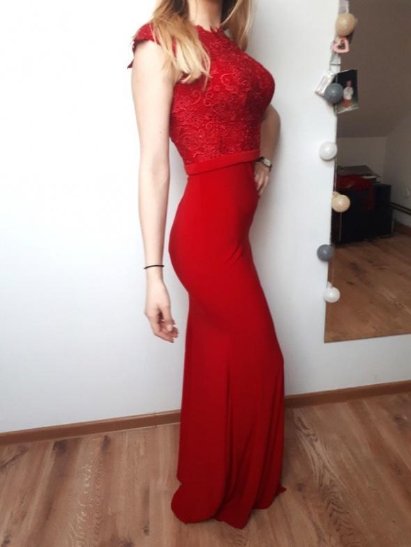 a945bbc24e Długa czerwona suknia Mascara Lodon rozmiar 34 xs w Suknie i ...