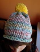czapka homemade selfmade knitting ręcznie robiona pattern szyde...
