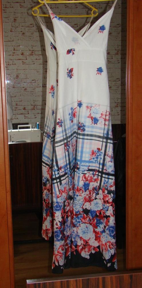 Suknia maxi w kwiaty