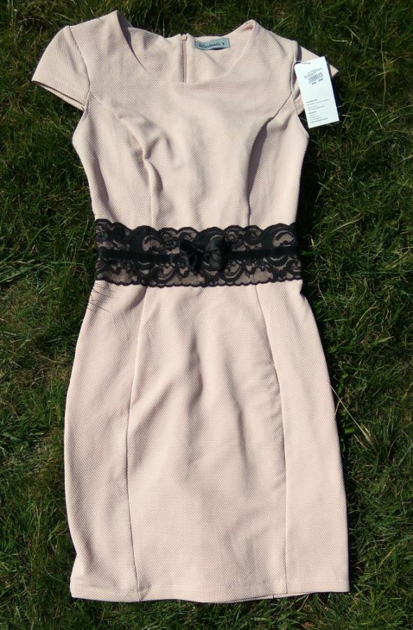 50e90d41789b8a Nowa różowa sukienka z koronką XXS 32 w Suknie i sukienki - Szafa.pl