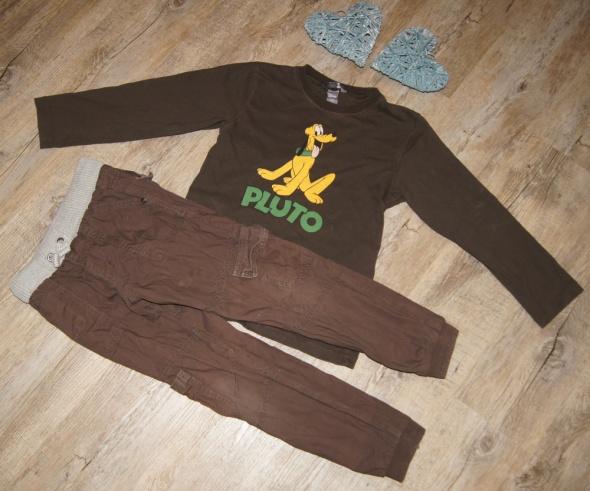 Zestaw chłopiec bluzka spodnie Pluto brąz rozm 116