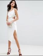 ASOS Elegancka kremowa sukienka 44...